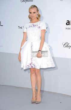 Diane Kruger in Chanel Resort 2012.  amfAR's Cinema Against AIDS Cannes 2012.