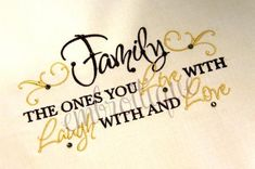 Family Live With Laugh With Love With Home Decor by Embroitique, $2.99