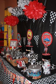 Really adorable Cars birthday party...and great game ideas.