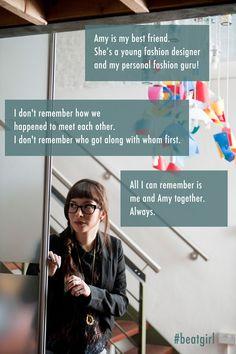 Amy's my best friend #beatgirl #bestfriends #friends #friendship #novel #film #fashion #style