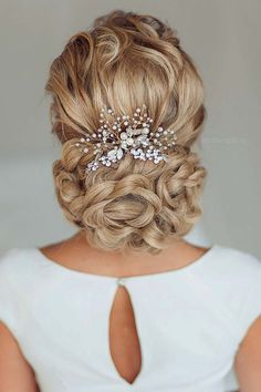18 Bridal Hair Accessories To Inspire Your Hairstyle ❤ See more: http://www.weddingforward.com/bridal-hair-accessories-to-inspire-hairstyle/ #weddings #hairstyle