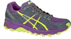 sneakers for cheap 03ac5 4d42d Asics Gel Fujitrabuco Ladies yellow purple (Size  37) running shoes men