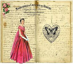 Vintage Book. Do you want to know wich pictures I used, check out my blog.