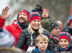 Princess Ingrid Alexandra of Norway, Crown Princess Mette-Marit of Norway, Crown Prince Haakon of Norway and Prince Sverre Magnus of Norway attended the FIS Nordic World Ski Championships on February 27, 2015 in Falun, Sweden
