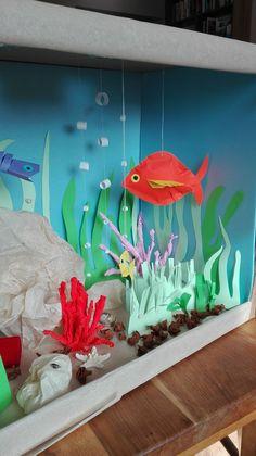 Water school project diorama