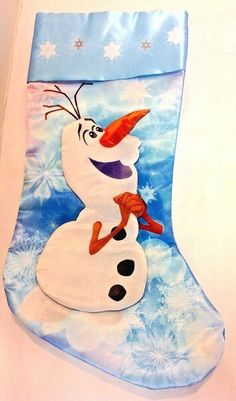 Christmas Snowman, Christmas Stockings, Christmas Ideas, Disney Frozen Olaf, Snoopy, Make It Yourself, Disney Characters, Ebay, Art