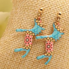 Pair of Cute Pony Shape Bead Drop Earrings
