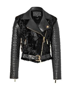 Fausto Puglisi - Fur/Quilted Leather Xiangao Jacket in Black