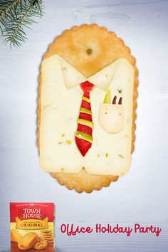 Loosen your tie, but still wow the boss at your office #HolidayParty. Town House oval crackers' unbeatable buttery flavor makes a great impression.