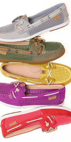 One of each, please. Shop the Coil Ivy boat shoe, with perforated detailing.