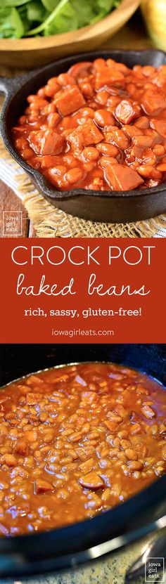 Crock Pot Baked Beans is a rich, sassy, and simple crock pot recipe that's sure to become a summertime side dish staple at your house!