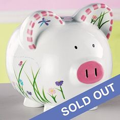 She'll adore this charming oversized piggy bank crafted out of dolomite. We personalize the side with her name, up to 10 characters in a beautiful dark Lilac color. Item cannot be gift boxed. Piggy Bank Craft, Lilac Color, Gifts, Characters, Dark, Beautiful, Piglets, Presents, Figurines