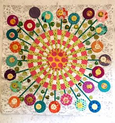 Picture Dresden Plate Patterns, Dresden Plate Quilts, Quilt Patterns, Appliqué Quilts, Barn Quilts, Circle Quilts, Quilt Blocks, Quilting Projects, Quilting Designs