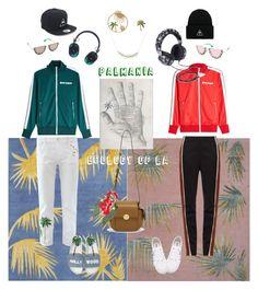 """Ecology of LA"" by ladyarchitect ❤ liked on Polyvore featuring Palm Angels, Alice + Olivia, Yvonne Léon, Master & Dynamic, Henri Bendel, Hermès, Wales Bonner, MPJ, Superga and Joshua's"