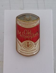 Vintage Old Milwaukee Beer Can Enamel Tie Tack / Lapel Pin Very Collectible!