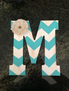 Chevron monogram! For each letter of my name I would do a different color..