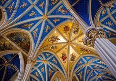 Notre Dame Basilica ceiling