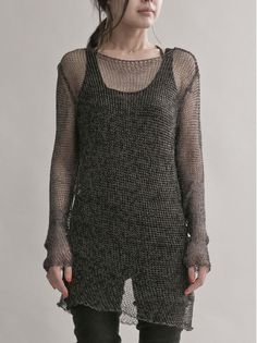 WOMEN :: TOPS :: CARDIGAN :: ISABEL BENENATO Metallic knit / TITANIUM