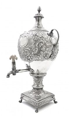 A George III Silver Urn on Stand, likely Samuel Eat