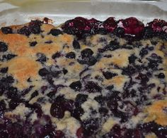 Please vote for this in the Dessert Challenge! Blueberries are great, especially when mixed into a delicious dessert!