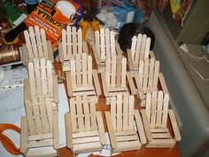 cool popsicle stick party crafts adirondack chairs