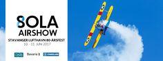 Kom og se årets store flyshow på Sola. Her vil det bli opplevelser for hele familien.  Sola Airshow 2017 er et stort internasjonalt flyshow med både militære og sivile deltakere fra mange nasjoner. Lørdag 10. og søndag 11.
