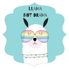 Alpacas, Llama Drawing, Cute Llama, Llama Alpaca, Nature Animals, Cute Cards, Kids Decor, Birthday Quotes, Care Bears