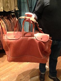 The Jean Shop leather weekender