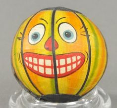 Baseball Jack-o-lantern Faced Candy Container