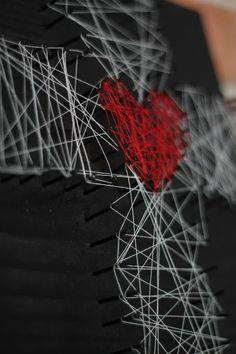 Lenten Nail and String Art--tutorial