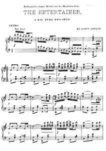 The Entertainer | Three Levels of Free Piano Sheet Music - https://thepianostudent.wordpress.com/2008/09/01/the-entertainer-piano-sheet-music-three-levels/