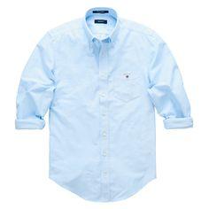 GANT Men's Oxford Shirt Pale Blue | Official Site