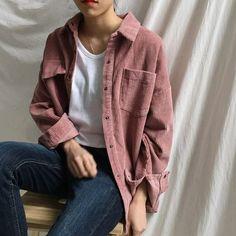 New Harajuku Corduroy Jackets Women Winter Autumn Coats Plus Size Over – Celiati