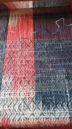 tie-dye linen warp and weft