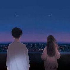 Cute Couple Art, Anime Love Couple, Cute Anime Couples, Animes Wallpapers, Cute Wallpapers, Aesthetic Anime, Aesthetic Art, Wallpaper Fofos, Anime Couples Drawings