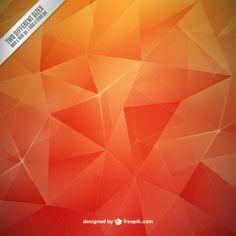 Orange polygons background