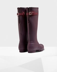 Women's Original Back Adjustable Rain Boots - #hunter #hunterboots #adjustable #tallboots