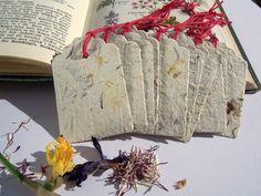 Gastgeschenke - 10 Büttenpapier-Etiketten Blümchenpapier - ein Designerstück von paperuli bei DaWanda