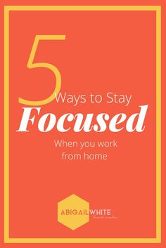 So you work from home, congrats! I recently made the switch from working in an office to working full time at home for myself. Sometimes, it's easy to find myself laying in bed when I should be working. However, there are a few ways I've found that really help me stay focused!
