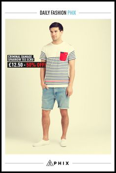 Today's Daily Fix: £12.50   http://www.phixclothing.com/criminal-damage-sparrow-ecru-p-5588_7_52.html