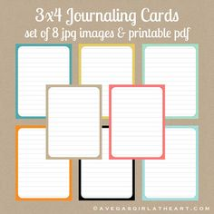 Freebie Friday: 3x4 Journalers for Project Life via A Vegas Girl at Heart