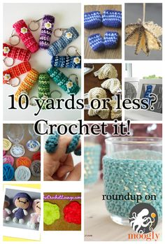 10 yds of yarn left over from your latest project? Here are 10 free patterns you can crochet with your odds and ends!