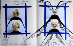 Julien d'Ys's illustrative sketchbook for the Comme des Garçons S/S15 show