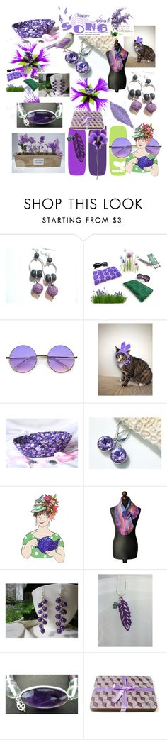 """Spring Song"" by anna-recycle ❤ liked on Polyvore featuring ZeroUV, modern, rustic and vintage"