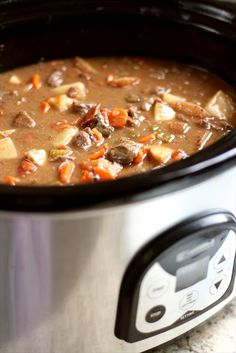 The Best Crockpot Beef Stew, since I don't cook with wine and probably never will I substitute the 1 cup of Wine for 1 cup of very strong black coffee.  You will be amazed at the richness it gives to beef gravy.  Never make anything beefy with gravy without strong brewed black coffee.  Try it, you will be convinced.