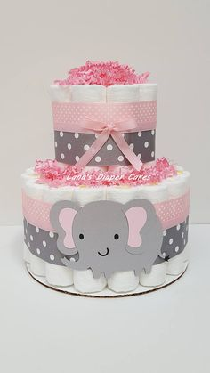 Ideas baby shower centerpieces for girls elephant mini diaper cakes Girl Baby Shower Decorations, Baby Shower Centerpieces, Baby Shower Themes, Elephant Decorations, Shower Ideas, Elephant Centerpieces, Budget Baby Shower, Cake Decorations, Tortas Baby Shower Niña