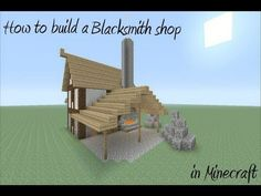 How to build a Blacksmith Shop in Minecraft - YouTube