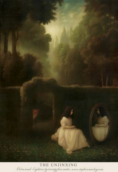 endlessquestion:  Stephen Mackey - The Unjinxing, oil on wood