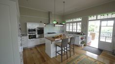 Great renovated kitchen in Queenslander   Houses and Homes Gallery   Henderson Builders, Paddington, Brisbane