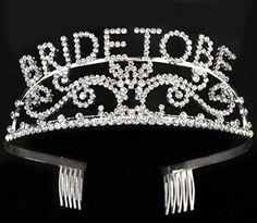 Elegant Rhinestone Bride to Be Tiara - Premium Quality Bachelorette Party or Bridal Shower Tiara